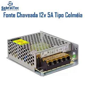 Fonte Chaveada Colmeia Eletronica 12V 5A ALM/// AL-1705G GRADEADA