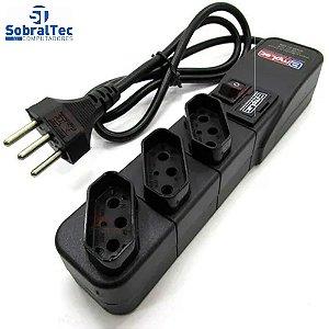 Protetor Eletrico Super Premium 3 Tomadas 5 Metros Emplac