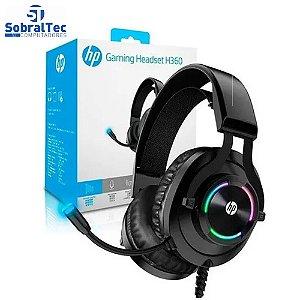 Fone Headset Gamer P2, Stereo e USB, H360, Preto com RGB
