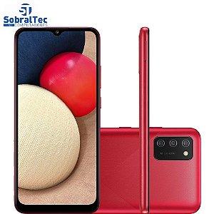 Smartphone Samsung Galaxy A02S 32GB, RAM 3GB, Octa-Core, Câmera Tripla Vermelho - SM-A025M/DS