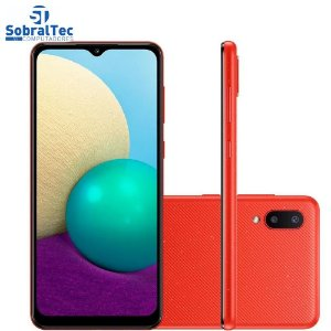 Smartphone Samsung Galaxy A02, 32GB, RAM 2GB, Quad-Core, 13MP, Vermelho - SM-A022MZRRZTO