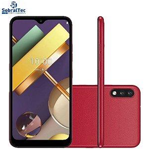 Smartphone LG K22+ 64GB 4G Wi-Fi Tela 6.2'' Dual Chip 3GB RAM Câmera Dupla + Selfie 5MP - Vermelho