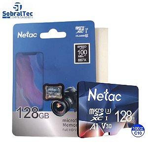 Cartão Micro SD Netac 128Gb 100Mb/s De Leitura