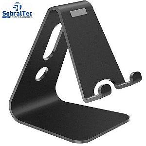 Suporte Universal De Alumínio Ajustável Para Tablet E Smartphone