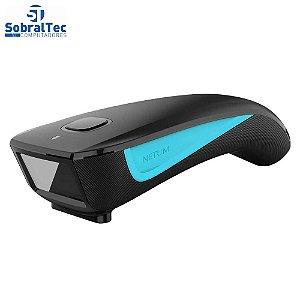 Leitor Código De Barras Bluetooth E USB NETUM C750 Preto Com Azul