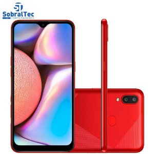 Smartphone Samsung Galaxy A10s 32GB RAM 2GB Octa-Core 13MP Vermelho Absurdo - SM-A107MDRRZTO