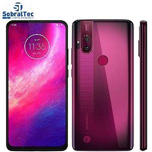 """Smartphone Motorola One Hyper Rosa Boreal 128GB, Tela Total Vision 6.5"""", Câmera Traseira Dupla, Câmera Selfie Pop-Up de"""