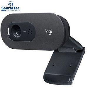 Webcam Hd Logitech C505 Hd 720P 960-001363 Preto