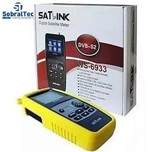 Localizador de Satélite SATLINK WS-6933 DVB-S2 FTA Medidor de Bússola Mecânica