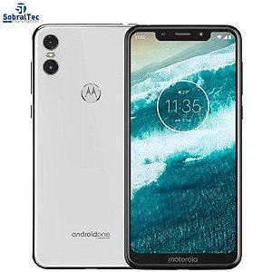 Smartphone Motorola One 64GB Dual Chip Android Oreo 8.1 Tela 5.9 2.0 Octa-Core 4G Câmera 13+2MP Branco