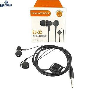 Fone De Ouvido H'maston Hearphones Sincronizado Original EJ-32