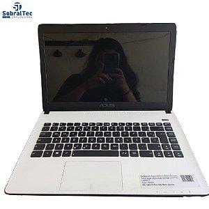 Notebook Asus X401U-WX117H com AMD Dual Core 2GB 500GB LED 14- USADO