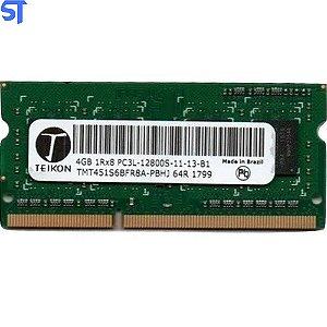 Memória Ram Notebook  Ddr3 4GB Pc3l-12800s-11-13-b1  1rx8 Teikon