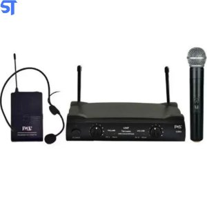 Microfone Sem Fio JWL Duplo UHF Bastão/Headset (Anatel)