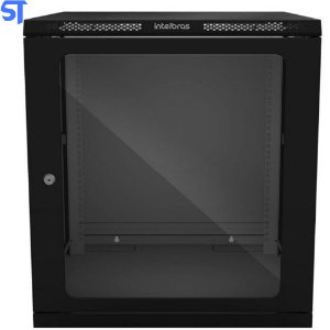 "Mini Rack de Parede Intelbras 19"" Desmontável 12U 570mm - MRD 1257"
