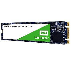 HD SSD M.2  WD Wester Digital Green 120GB M.2 Leitura 545MB/s - WDS120G2G0B