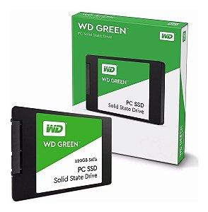 HD SSD WD Green 120GB SATA Leitura 545MB/s Gravação 430MB/s - WDS120G2G0A