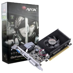 Placa De Vídeo Afox GT-630 2gb Ddr3 - 64bit  1 Fan  Hdmi  Dvi Vga - Af630-2048d3l1