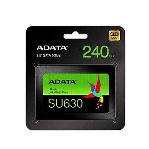 HD SSD Adata SU630- 240GB SATA Leitura 520MB/s Gravação 450MB/s -ASU630SS-240GQ-R