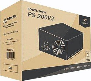Fonte Atx 200W Real C3Tech Ps200V3