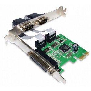 Placa PCI Express - 2 Portas Seriais - 1 Paralelo