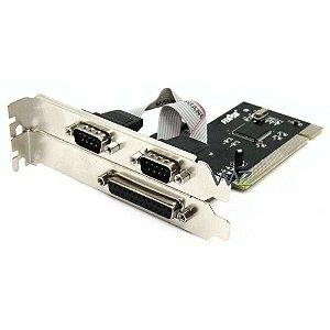 Placa PCI Com 2 Portas Seriais x 1 Paralelo Sk-Multi012