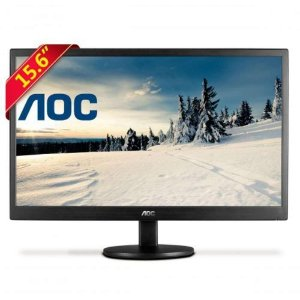 "Monitor Led 15,6"" Polegadas AOC E1670SWu Widescreen Preto"