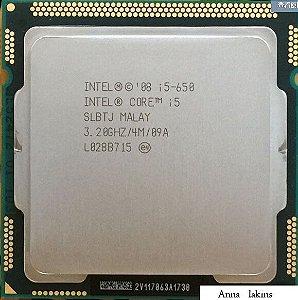 Processador Intel® Core i5-650 (4M Cache, 3.20 GHz) Lga 1156