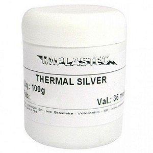 Pasta Termica Prata Cinza Thermal Silver Implastec 100G