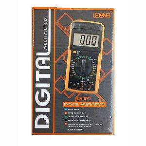 Multímetro Digital Com Bateria Inclusa Lelong Le-971