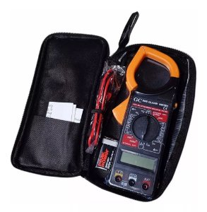 Alicate Amperímetro Multímetro Digital Multitest Tensão Temperatura Xt-2055