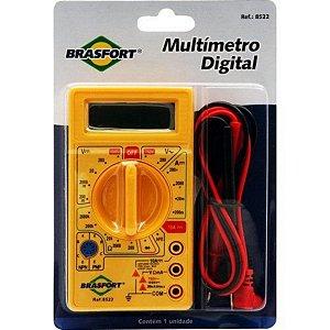 Multímetro Digital DT-830B Medição de Tensão Contínua e Alternada 9V Amarelo