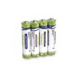 Pilha Manganes AAA R03P Pack 4 Peças Green