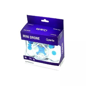 Drone Quanta Qtpdr2036 Mini Com Giro De 360º - Azul/branco