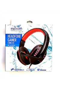 HeadPhone Gamer Ps4 Com Microfone Usb P2 Led Jogos Exbom HF-G310p4