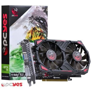 Placa De Video Nvidia Geforce Gtx 750 Ti 2gb Gddr5 128 Bits Dual Fan