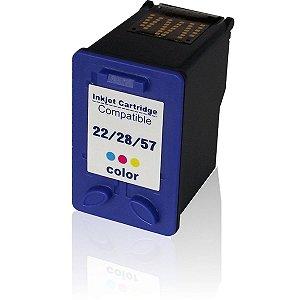 Cartucho Compatível Hp Color 22- 28- 57- HC-E01X 19ml