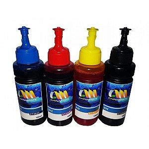 Kit Refil Tinta Corante Epson-Hp Et 365-664 Chinamate 4 Cores 400ml