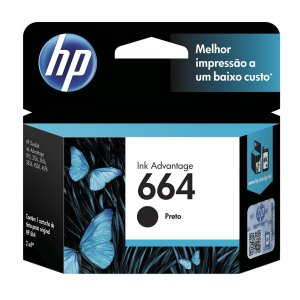Cartucho Hp 664 Preto 120 Paginas F6v29ab 2ml
