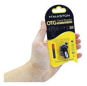 Micro OTG Leitor de Cartão SD/T-Flash Card 2 em 1