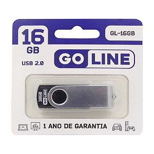 Pendrive Goline 16GB 2,0 GL-16GB Preto-Prata