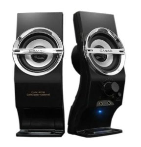 Caixa de Som usb Amplificador Stereo Speaker CAMAC CMK-878 Portátil P/ PC ou Notebook