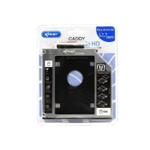 Gaveta Caddy Adaptador Para Segundo HD de Notebook ou Ssd 9.5mm Knup KP-HD009
