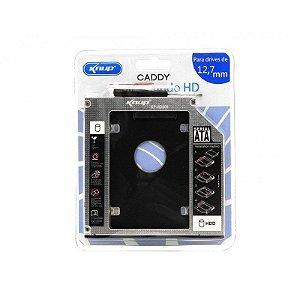 Gaveta Caddy Adaptador Para Segundo HD de Notebook ou Ssd 9.5mm Knup KP-HD009