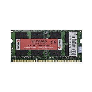 Memória Notebook 8Gb Ddr3 1333 Keepdata KD13S9/8G