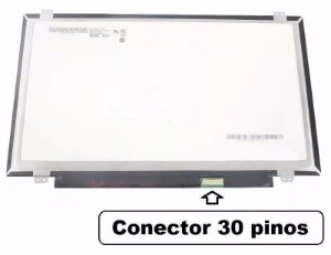 "Tela Notebook Display Led 14"" Slim 30 Pinos- LP148WH8 (TP) (E1)"