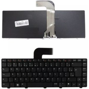 Teclado Notebook Dell N4050 3550 3560 14-3420 Black-Br-Frame