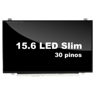Tela Notebook Led Slim - 15.6 -30 Pinos 1366X768 -Ltn156At39 - N156WHM-N32 V8.0 - Canto inferior Direito- Brilhosa