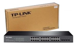Switch Gigabit 24 Portas Tp-Link Hub T1600G-28ts TL-SG2424- 4 Slots 56gbps