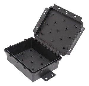 Caixa Hermética Preta Multiuso Mini 17x13,5x6,5cm Vedada Completa Multitoc